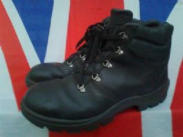 GERMAN ARMY MILITARY ATLAS BLACK BOOTS STEEL TOE CAPPED